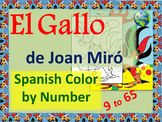 Spanish Color by Number - El Gallo by Joan Miró