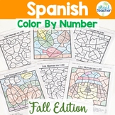 Spanish Color by Number FALL EDITION 1-10, 1-20, 1-100