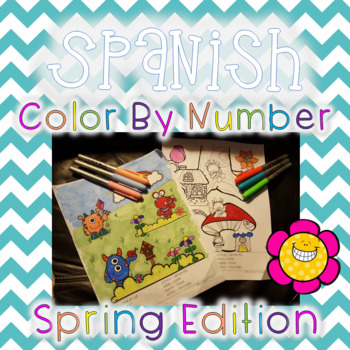 Spanish Color by Number Pages - Spring Edition