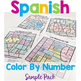 Spanish Color by Number Sample Pack