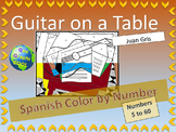 Spanish Color by Number - Guitar on a Table Juan Gris