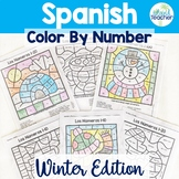 Spanish Color by Number WINTER EDITION 1-10, 1-20, 1-100