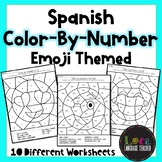 Spanish Color by Numbers Emoji Themed