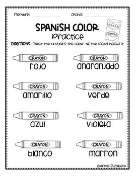 Spanish Coloring Pages