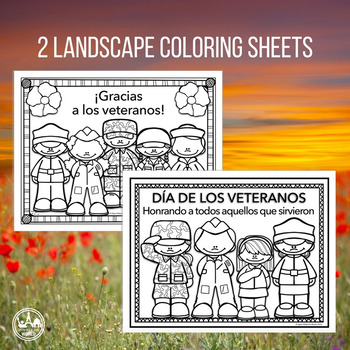 Spanish Veterans Day Coloring & Writing Mini Pack