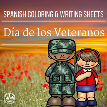 Spanish Coloring & Writing Veterans / Remembrance Day Mini Pack
