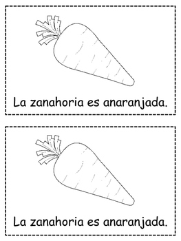 Spanish Colors {ANARANJADO} Emergent Reader