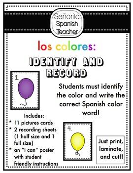 Spanish Colors Balloon Record