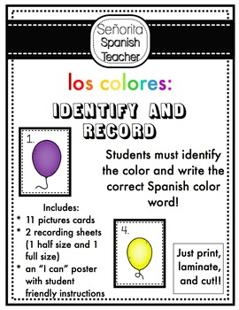 Spanish Colors Balloon Record