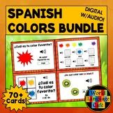 Spanish Colors Boom Cards, Spanish Digital Flashcards, Boo