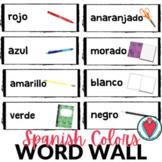 Spanish Colors Bulletin Board - Spanish Word Walls - Eleme