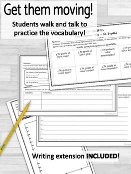 Spanish Colors- Classroom Sign and Notes/Coloring Sheet for Students