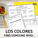 Los Colores Spanish Colors Speaking and Writing Activity