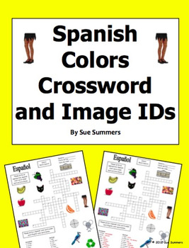 Spanish Colors Crossword Puzzle and Image IDs - Los Colores