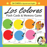 Spanish Colors Flash Cards & Memory Game - Los Colores