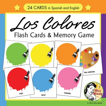 Spanish Colors Flash Cards Amp Memory Game Los Colores By