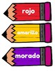 Spanish Colors (Flash Cards, Pencils)