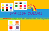 Spanish Colors:  Flashcards, Bingo Cards, and Memory Game Matching Cards