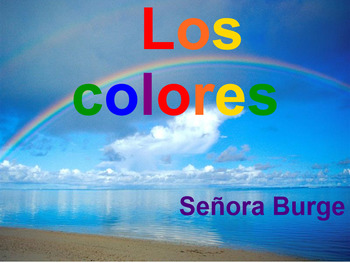 Spanish Colors Interactive Lesson