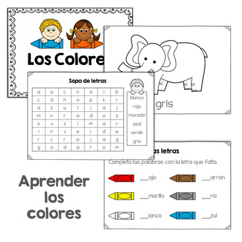 Spanish Colors Mini Books **50% off**