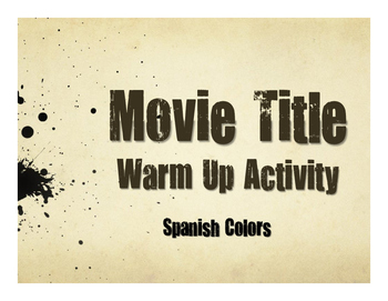 Spanish Colors Movie Titles