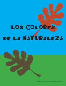 Spanish Colors Nature Walk Booklet