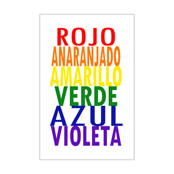 Spanish Colors Poster 11x17 for the Art Room or Classroom