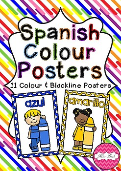 Spanish Colors Posters