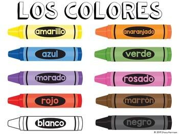 Spanish Colors Poster (landscape)