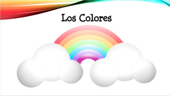 Spanish Colors PowerPoint and Guided Notes