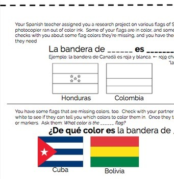 Spanish Colors Practice - Games and Activities