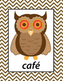 Spanish Colors Printable Owls