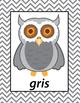 Spanish Colors Printable Owls