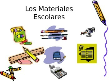 Spanish Colors, School & Clothing Supplies