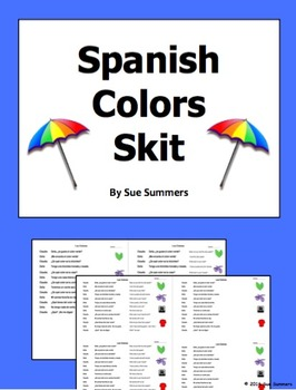 Spanish Colors Skit / Role Play / Speaking Activity - Los Colores