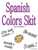 Spanish Colors Skit for 2 Students - De Que Color?