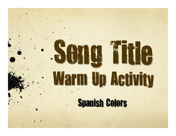 Spanish Colors Song Titles