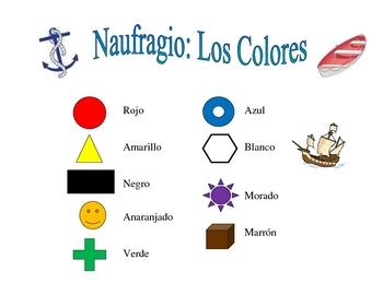 Spanish Colors Speaking/Writing  Activity (Naufragio)