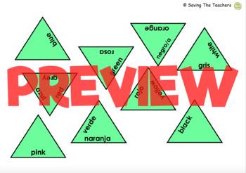 Spanish Colors Tarsia Puzzle Activity