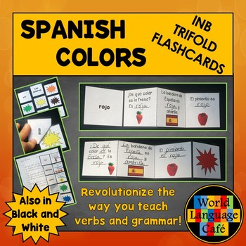 Spanish Colors Interactive Notebook Trifold Flashcards, Los colores