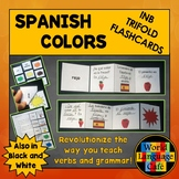 Spanish Colors Flashcards, Interactive Notebook Trifold Flashcards, Los colores