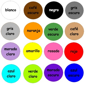 Spanish Colors Unit, Colores en español