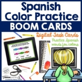 Spanish Colors Vocabulary Game Los Colores Boom Cards Digi
