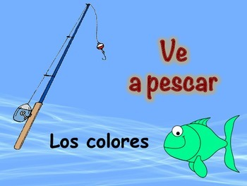 Spanish Colors Vocabulary Game (Ve a pescar-Go Fish)