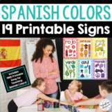 Spanish Colors Vocabulary Signs Bulletin Board - Los Color