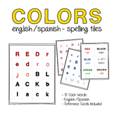 Spanish Colors Vocabulary Spelling Tiles