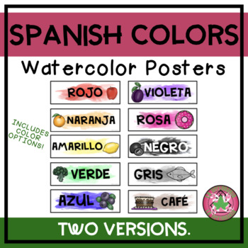 Spanish Colors Watercolor Posters