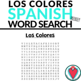 Spanish Worksheet - Spanish Colors Word Search - Easy Span