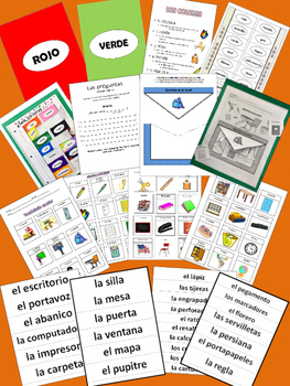 Spanish Colors / los colores & Classroom Objects PowerPoint