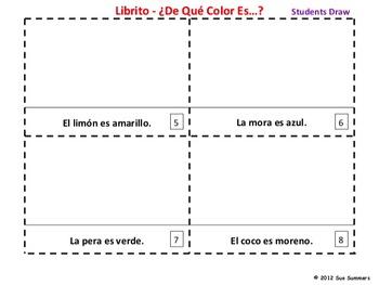Spanish Colors and Fruit 2 Booklets - Los Colores y La Fruta